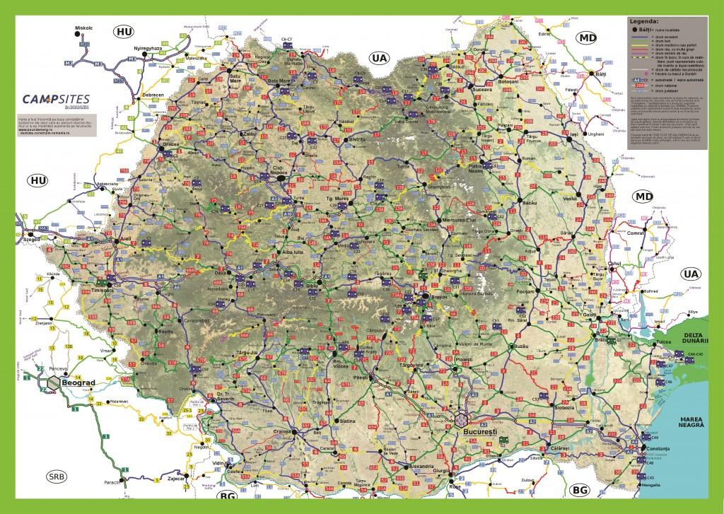 Harta calitatii drumurilor cu campinguri
