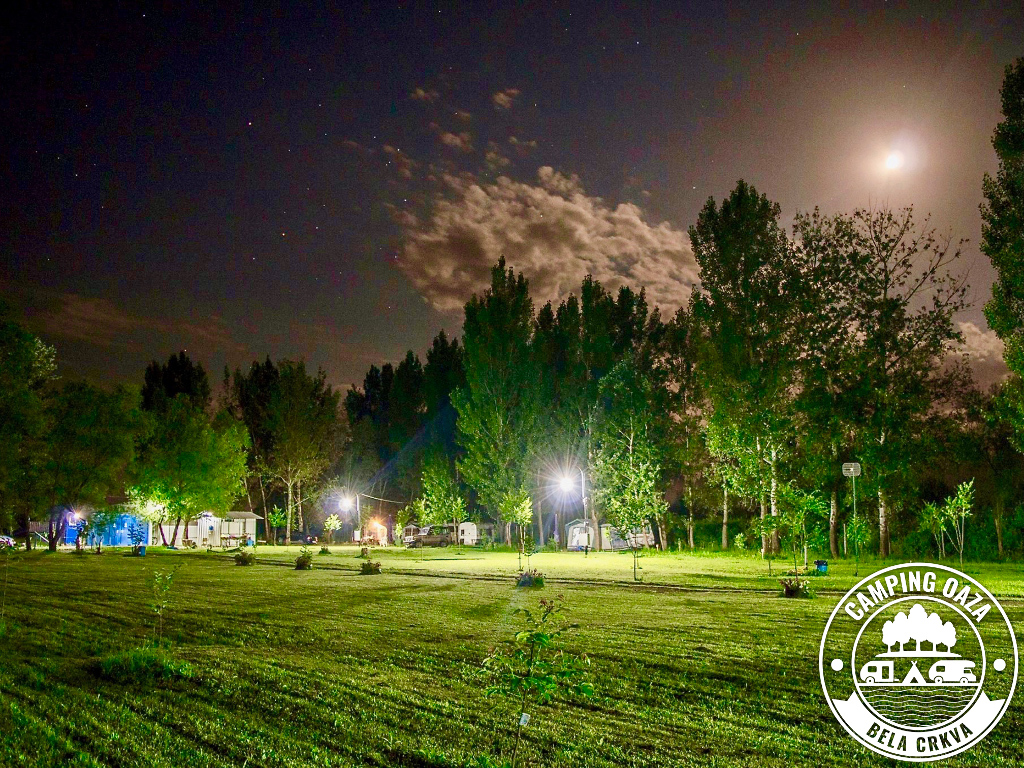 Oaza Camping at night