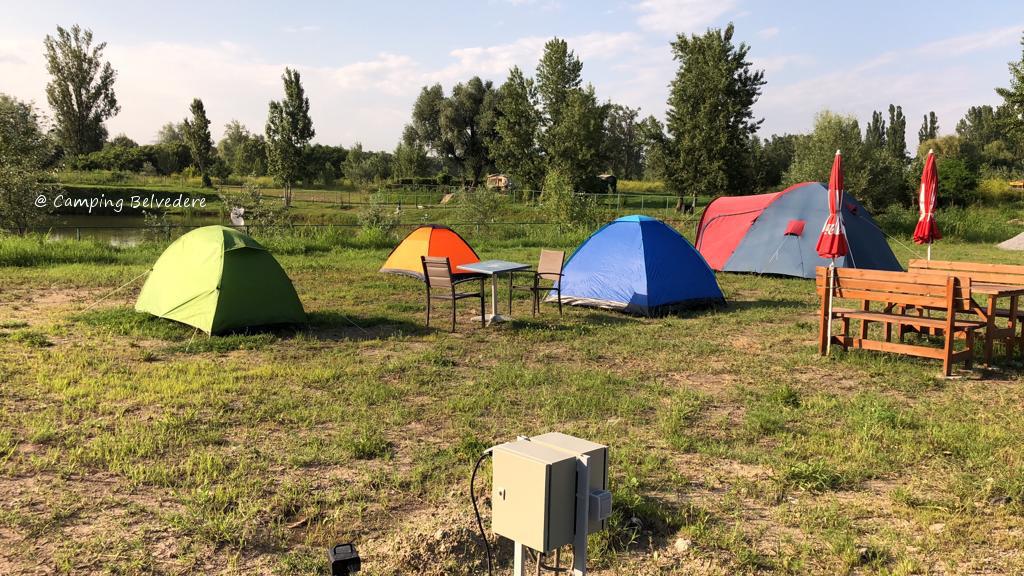 corturi in camping Belvedere