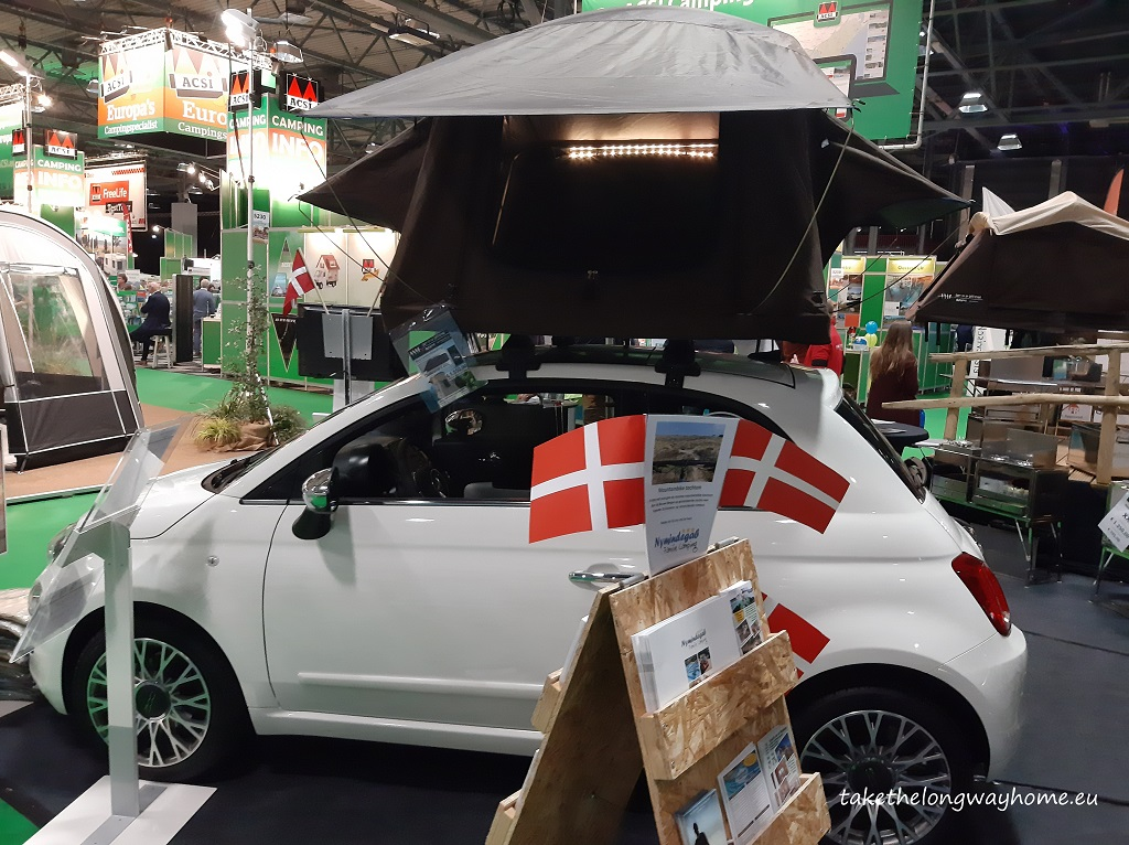 minicar and rooftop tent